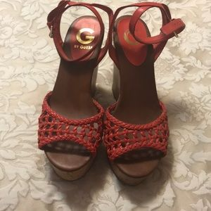 Wedged sandals by guess